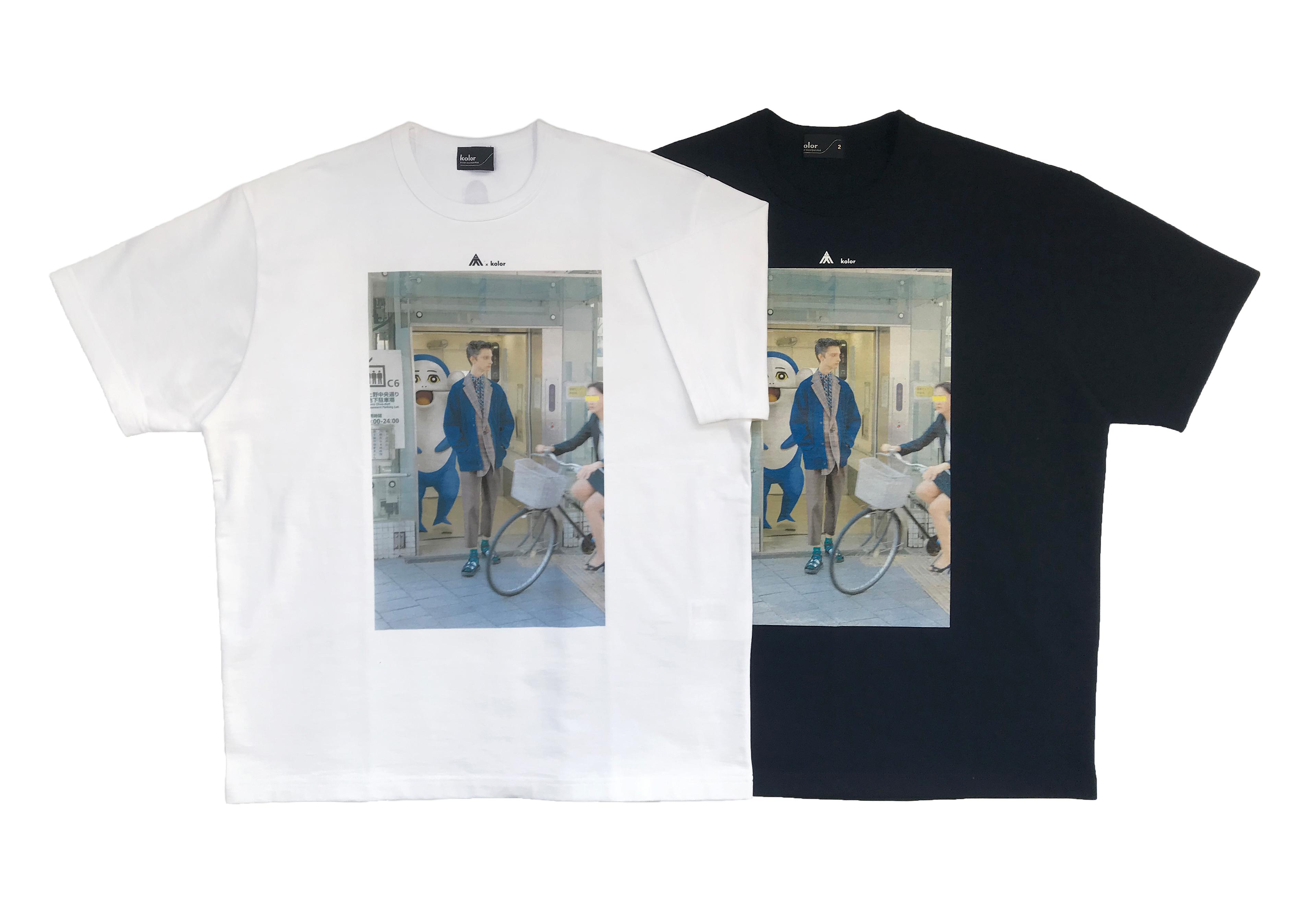 kolor×イルカのイルカくん フォトTシャツ ¥23,000