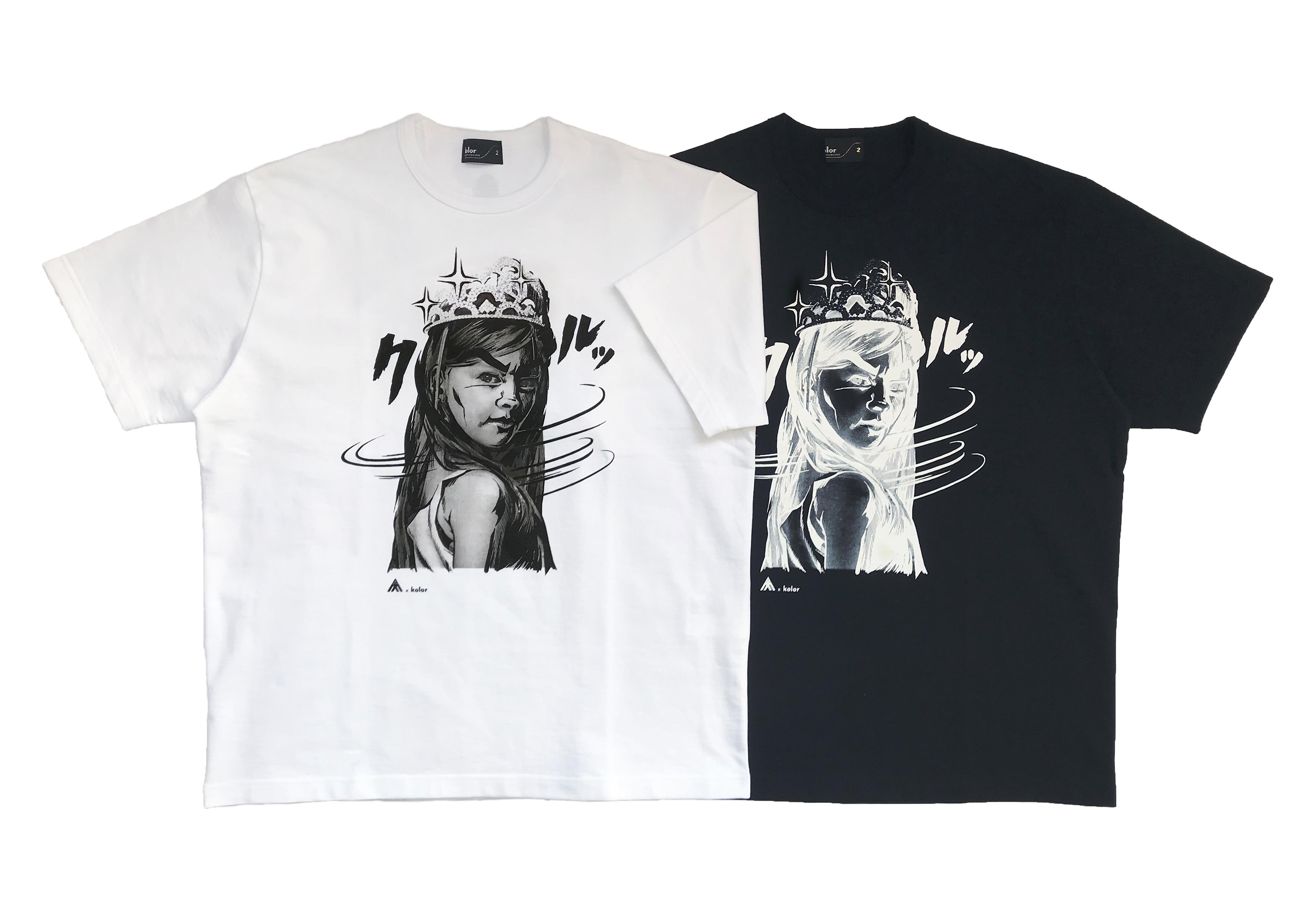 kolor×AC部 グラフィクTシャツ ¥18,000<br />