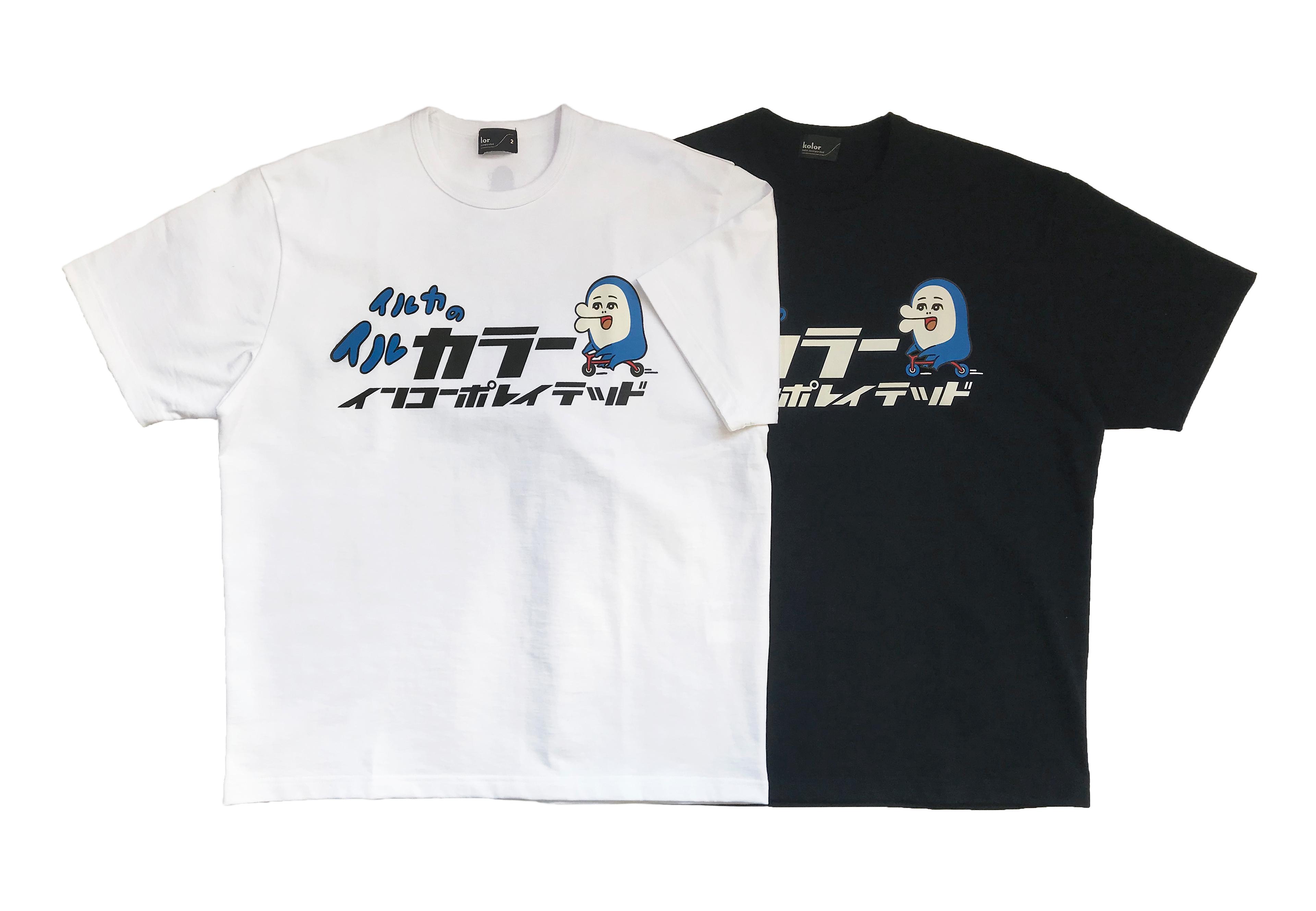 kolor×イルカのイルカくん ロゴTシャツ ¥22,000