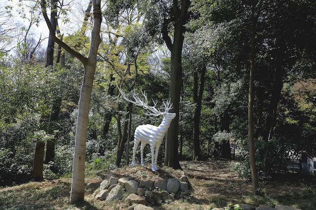 名和晃平 『White Deer (Meiji Jingu)』 (2020年) photo : 木奥惠三