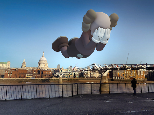 KAWS 『COMPANION (EXPANDED) in London』 (2020年) augmented reality. Courtesy: KAWS and Acute Art.