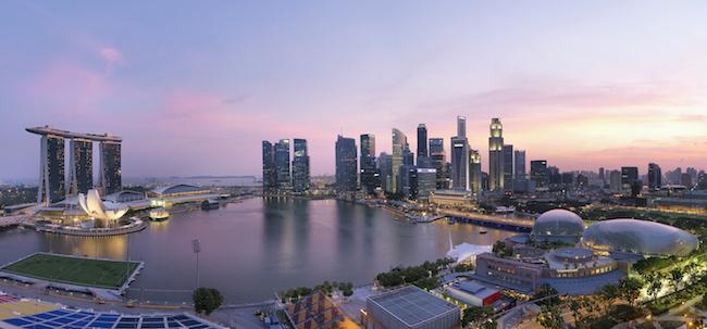 View from Mandarin Oriental, Singapore