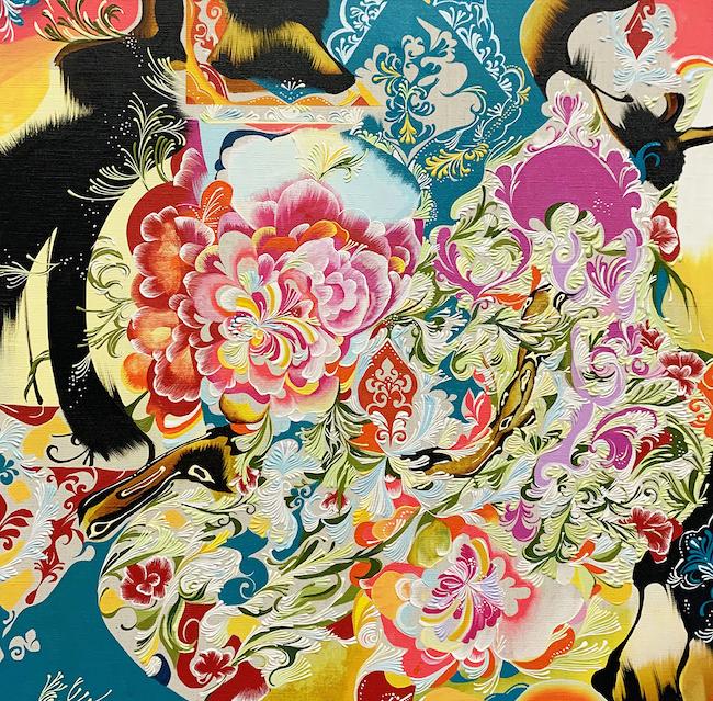 水野里奈 『タイルの花』 (2020年) ©MIZUNO Rina Courtesy Mizuma Art Gallery