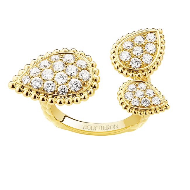 セルパンボエム 3モチーフ リング(YG・ダイヤモンド) ¥1,610,000(税込)