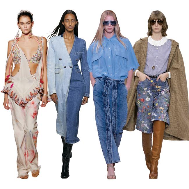 (左から)Isabel Marant、Givenchy、Stella McCartney、Celine by Hedi Slimane