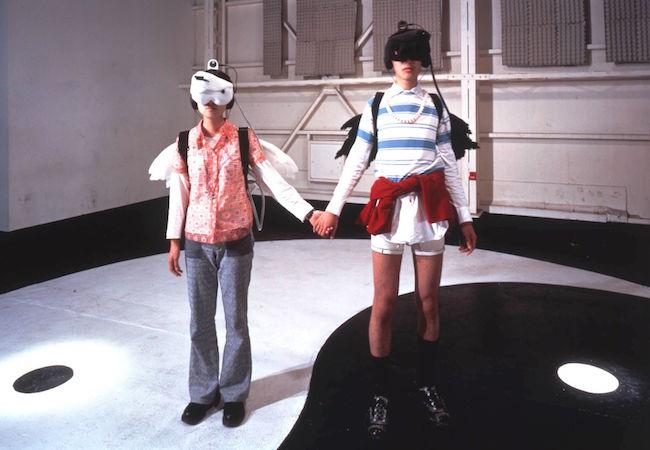 八谷和彦『視聴覚交換マシン』サイズ可変, ミクストメディア,1993年, 撮影 黒川未来夫