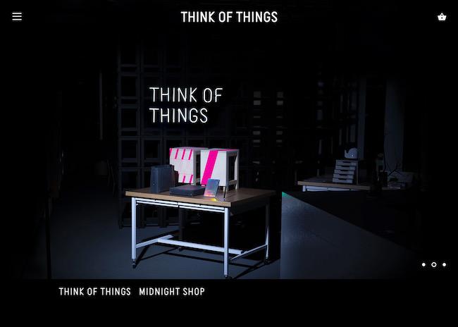 オンラインショップ「MIDNIGHT SHOP」のWEBサイトのデザイン