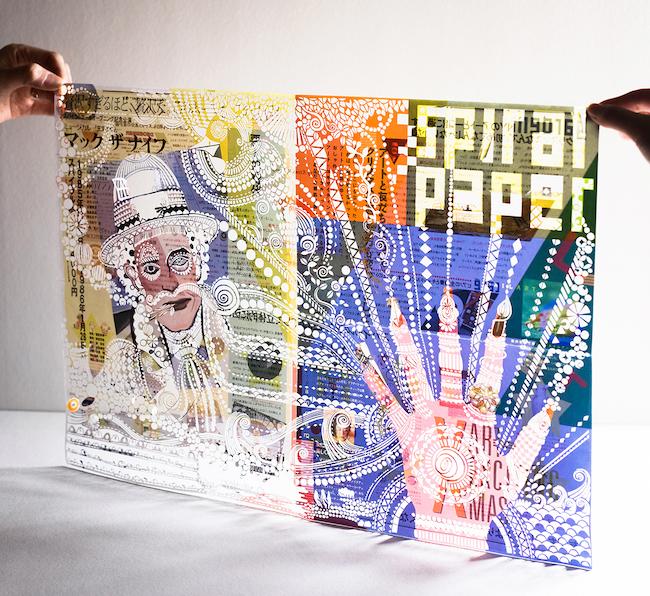 タナカマコト『Spiral Paper 創刊号』アートワーク Photo : Saori Tao