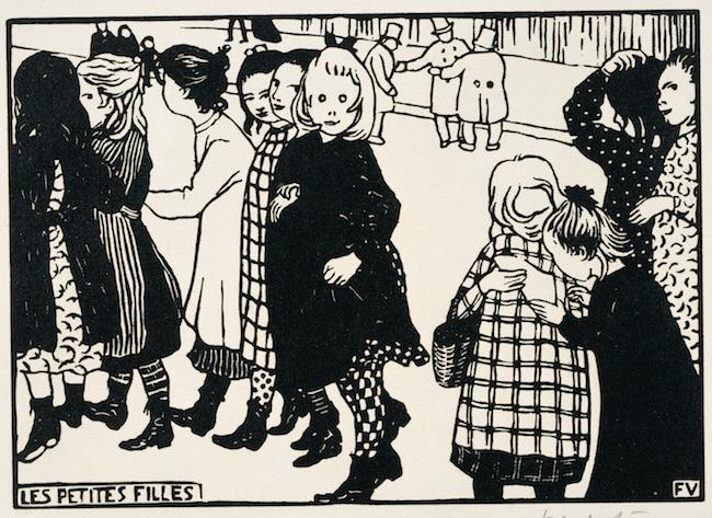 フェリックス・ヴァロットン《女の子たち》1893年 木版/紙 三菱一号館美術館蔵