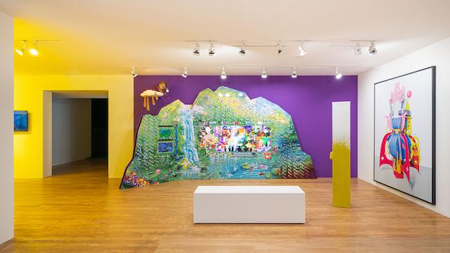 オルタナティブ・スペースBOAN1942による展示「Psychedelic Nature: Natasha and Two Yellow Pieces」、「No Space, Just a Place」展示風景、大林美術館、ソウル(2020年)