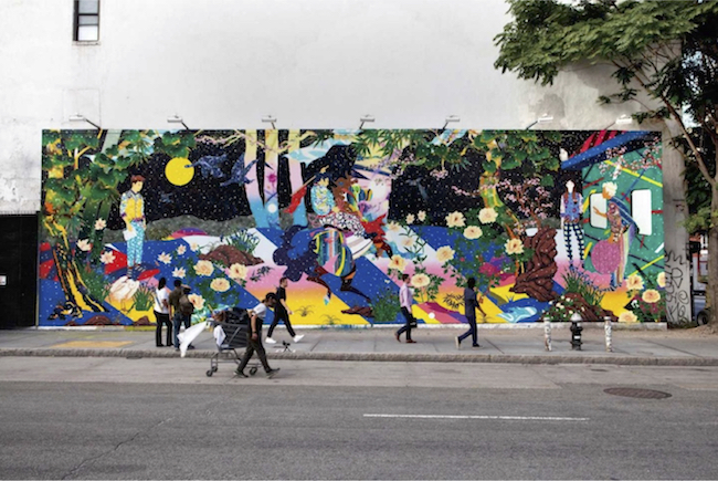 昨年10月に完成した「バワリー・ミューラル」の壁画作品 © Matsuyama Studio