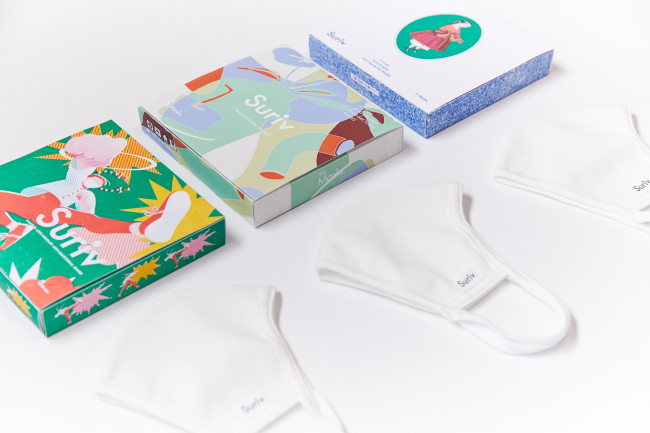 抗菌ファブリックマスク「Suriv」 CREATOR Series (1箱マスク5枚入り1,480円+税)