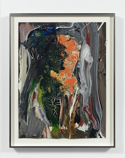 Ryan Sullivan, Untitled, 2019, watercolour and enamel on paper, 61 × 45.7 cm © Ryan Sullivan, courtesy Sadie Coles HQ, London