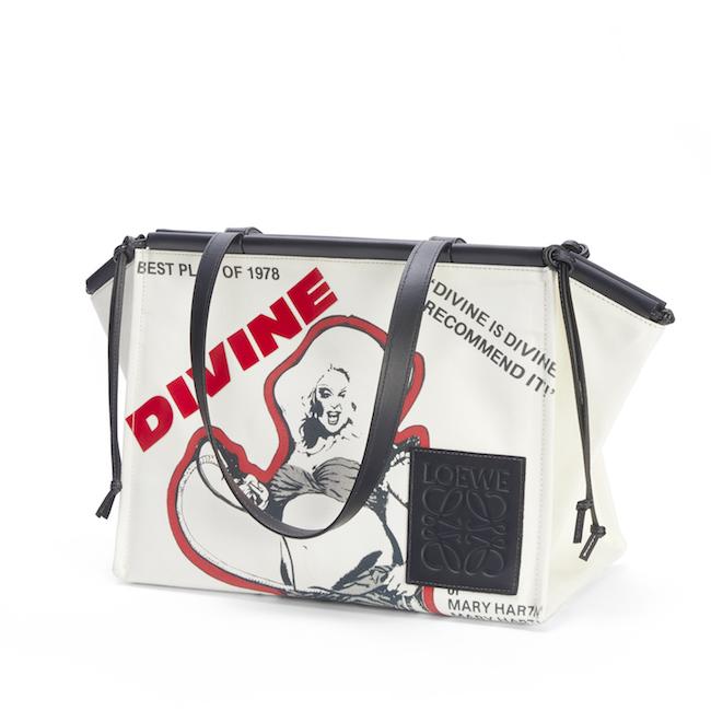 LOEWE DIVINE キャンバスxカーフのトートバッグ ¥160,600
