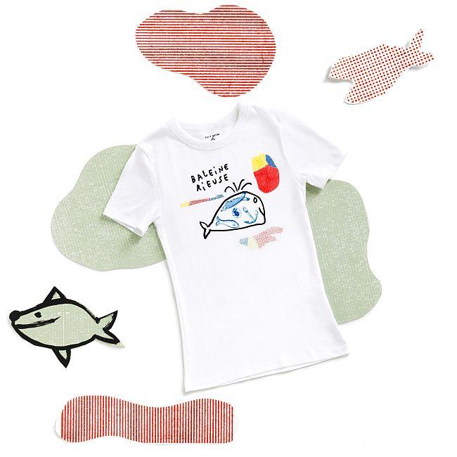 プリント半袖Tシャツ ¥5,500