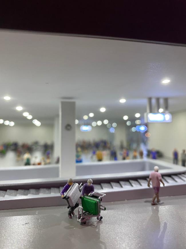 関西国際空港エリア内バゲージクレームの様子