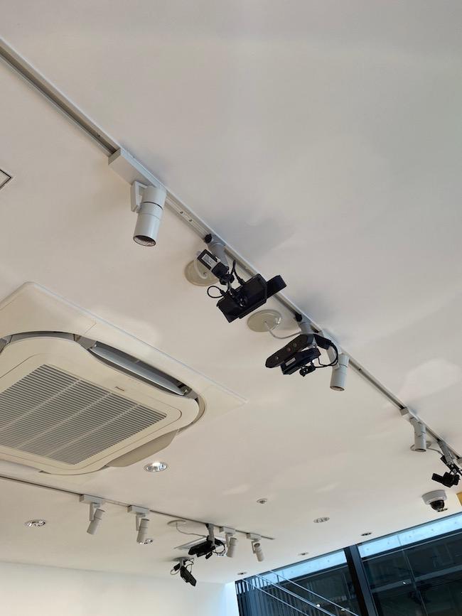 店内に設置されたカメラ