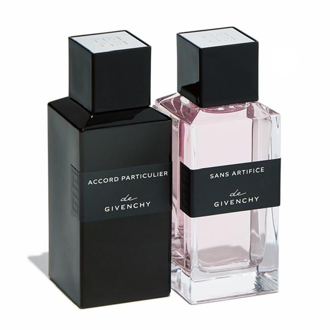 ド ジバンシイ アコール パルティキュリエ オーデパルファム、白茶が漂う高貴な香り。同サンザーティフィス オーデパルファム [各100ml] ¥26,000/ともにParfums Givenchy(LVMHフレグランスブランズ 03-3264-3941)