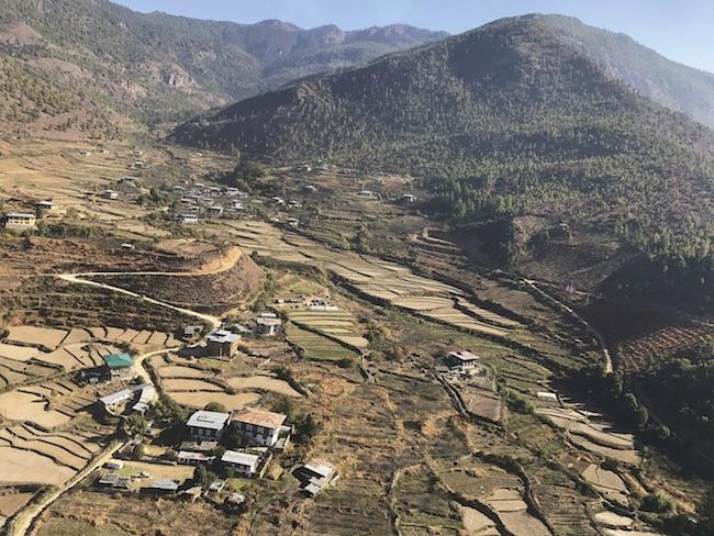 ブータンで田根らが視察した時の写真。