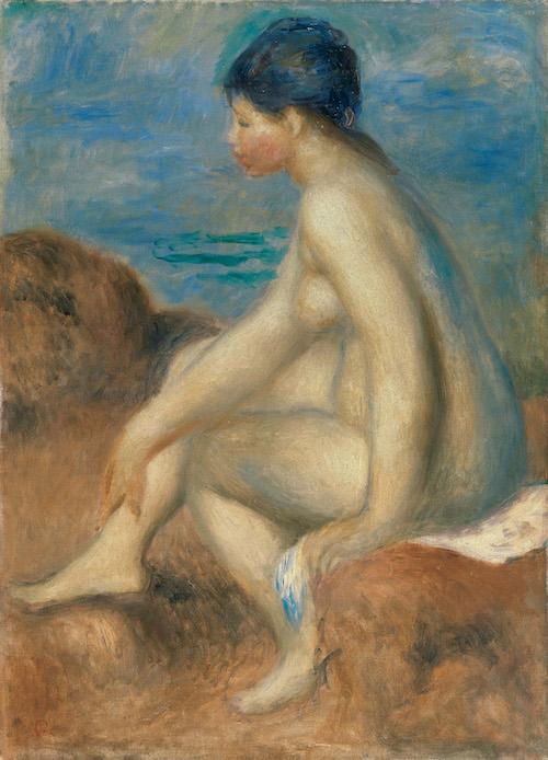 ピエール=オーギュスト・ルノワール 『浴女』 1892-93年頃 油彩・キャンヴァス 53.5×38.0cm