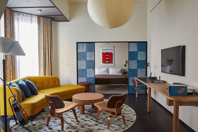 エーススイートの客室。Photo:Yoshihiro Makino