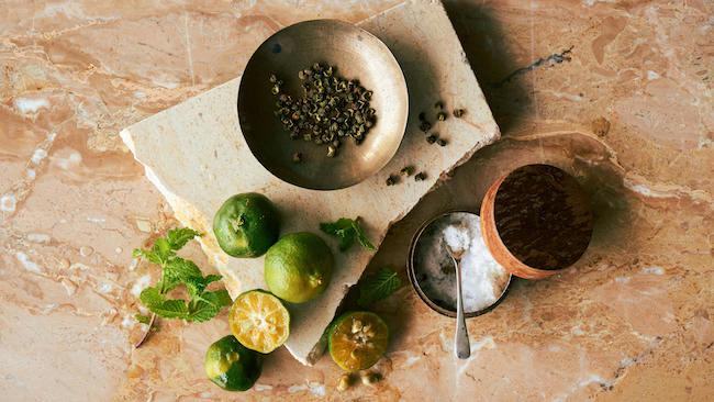 ヒラミレモン(シークワーサー)、山椒、沖縄の塩
