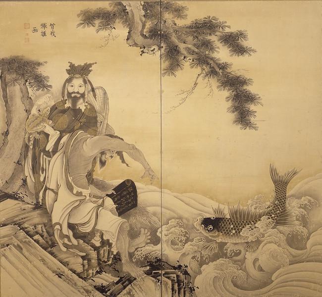曾我蕭白『群仙図屏風』(左隻) 江戸時代・18世紀 2曲1双 東京藝芸術大学 ※この作品の展示は7月6日で終了しました。