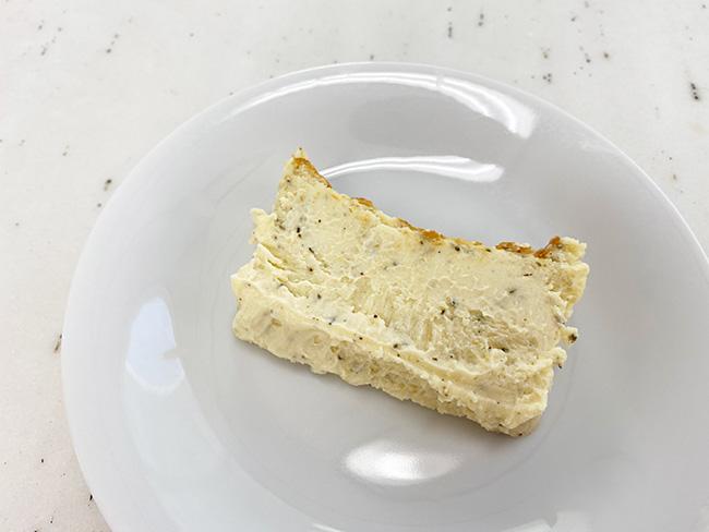チーズの滑らかな食感を楽しみたいなら、完全解凍に近い状態で。これも絶品!