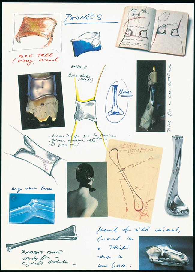 エルサ・ペレッティのスケッチも入った、大変貴重な「ボーン