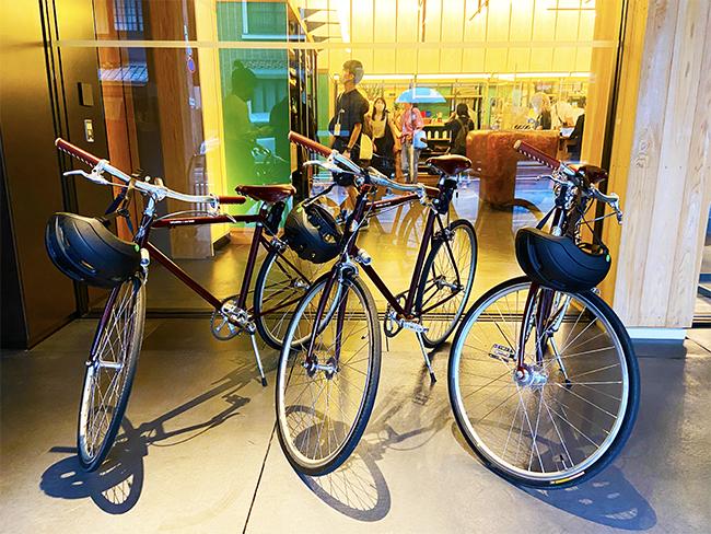 エースホテル京都オリジナルデザインのトーキョーバイク。