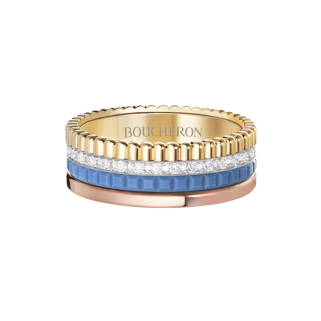 「キャトル ブルー」 ダイヤモンド リング スモール( YG、 WG、 PG、ダイヤモンド、ブルーセラミック) ¥800,000