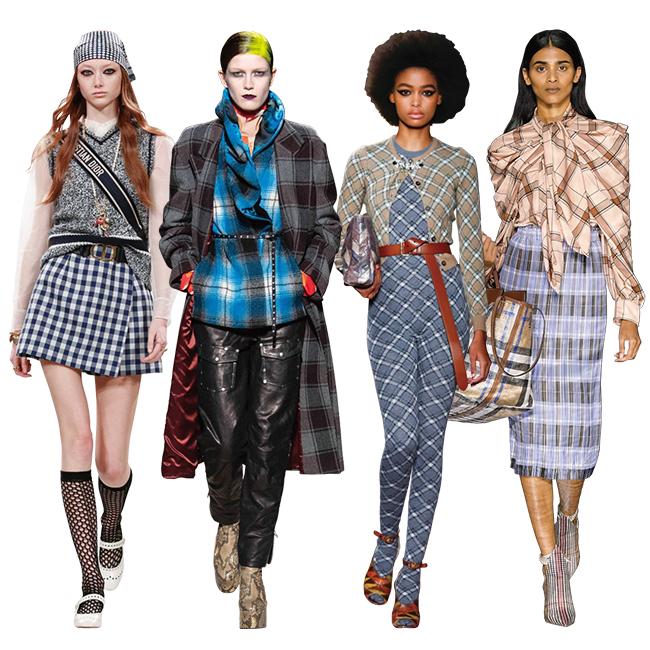 (左から)Dior、Dries Van Noten、Miu Miu、Burberry