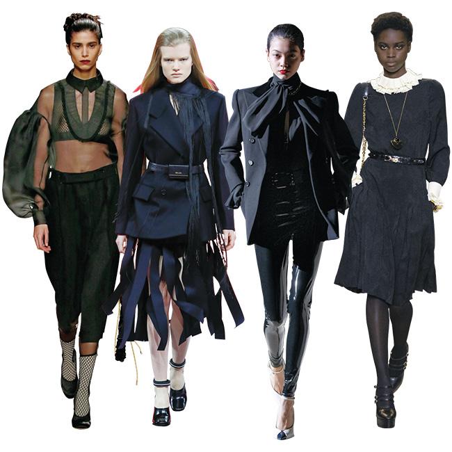 (左から)Fendi、Prada、Saint Laurent、Celine by Hedi Slimane