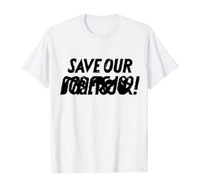 Quasi-slogan T Tシャツ(メンズ ホワイト)¥2,980/Tezzo Suzuki