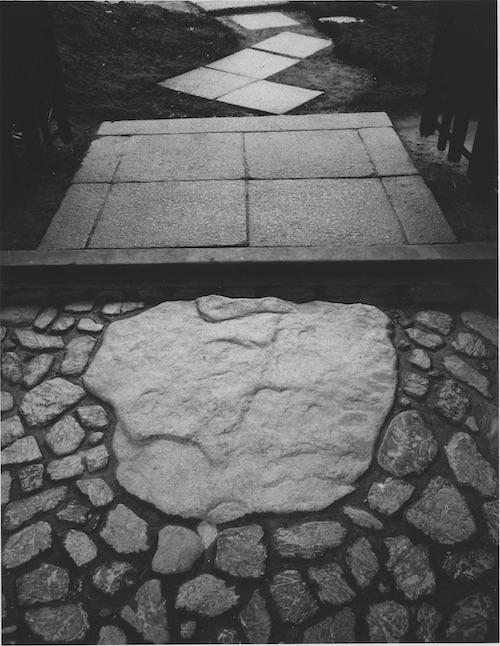 『桂離宮 中書院東の庭から中書院、楽器の間、新御殿を望む』ゼラチン・シルバー・プリント(1953, 54年)