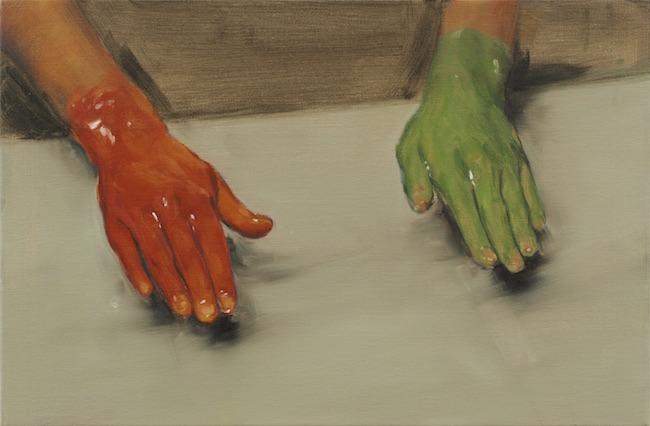 ミヒャエル・ボレマンス『赤い手、 緑の手』2010 Photo: Peter Cox  Courtesy: Zeno X Gallery, Antwerp