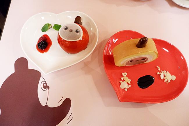 (左)ベリームースらぼらぼ ¥1,800(右)らぼらぼロールケーキ ¥1,800(ともに税込)