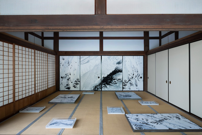 瀧本幹也「CHAOS 2020」(妙満寺)の展示風景より。