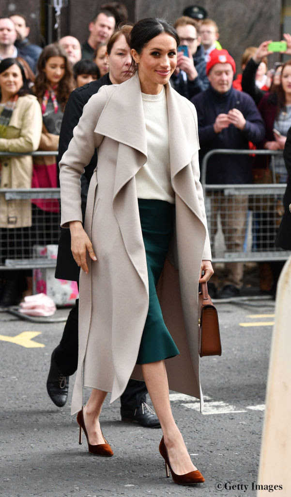 Mandatory Credit: Photo by Tim Rooke/REX/Shutterstock (9474459ao)Meghan Markle in BelfastPrince Harry and Meghan Markle visit to Northern Ireland, UK - 23 Mar 2018