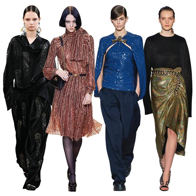 (左から)Stella McCartney、Celine、Valentino、N21