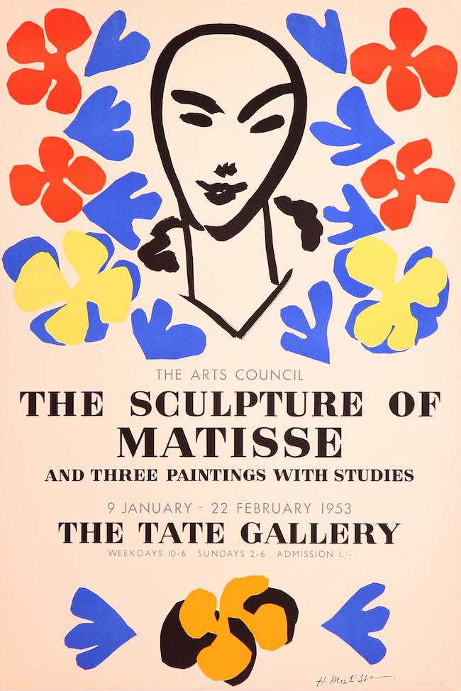 アンリ・マティス彫刻展テートギャラリー 1953 Courtesy of Mourlot Editions