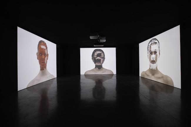 宮島達男《Counter Skin on Faces》2019/2020年 Courtesy of Akio Nagasawa Gallery Photo by Nobutada Omote