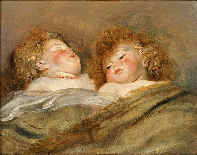 ペーテル・パウル・ルーベンス『眠る二人の子供』(1612-13年頃) 国立西洋美術館蔵