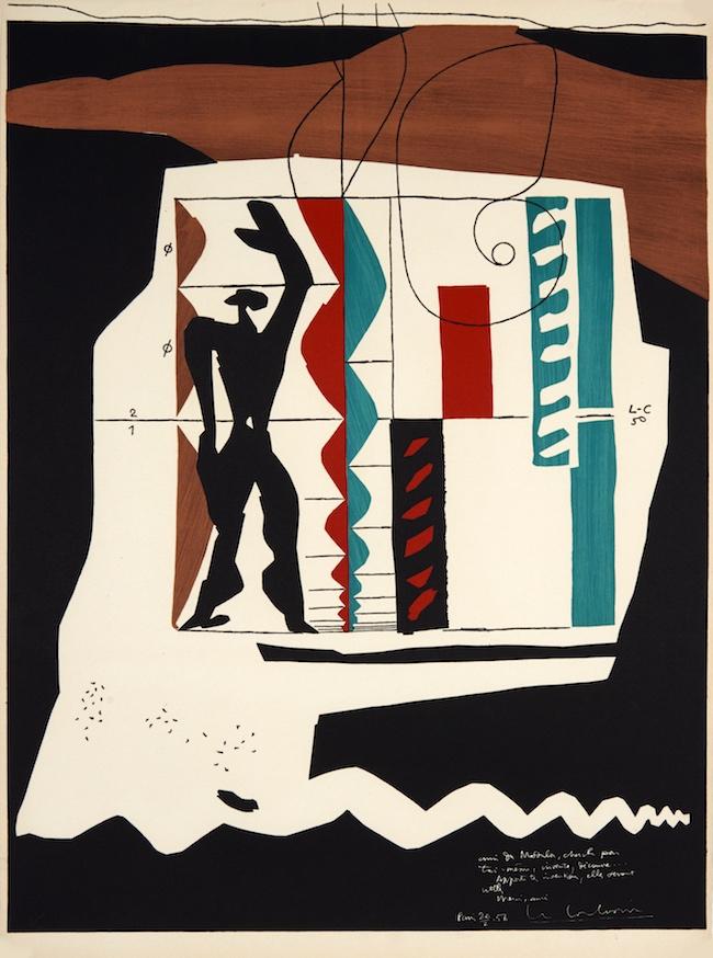 ル・コルビュジエ:モデュロール  1956/62 Courtesy of Mourlot Editions