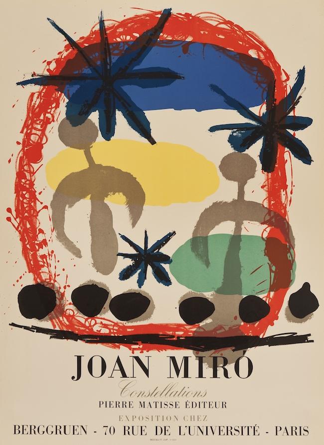 ジョアン・ミロ:コンスタレーション展 1959 Courtesy of Mourlot Editions