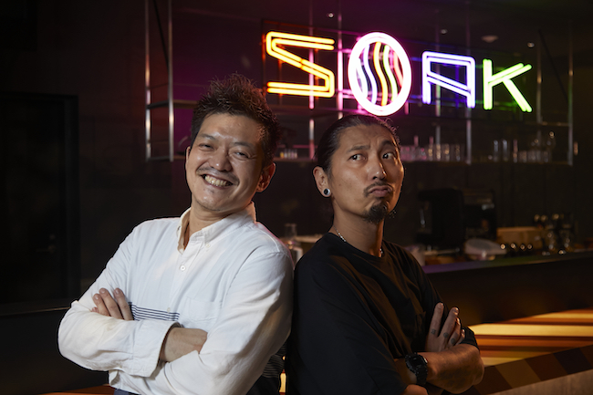 左:長屋英章シェフ、右:永島健志シェフ
