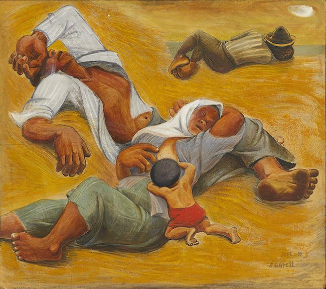 阿部合成『百姓の昼寝』(1938年) 東京国立近代美術館蔵