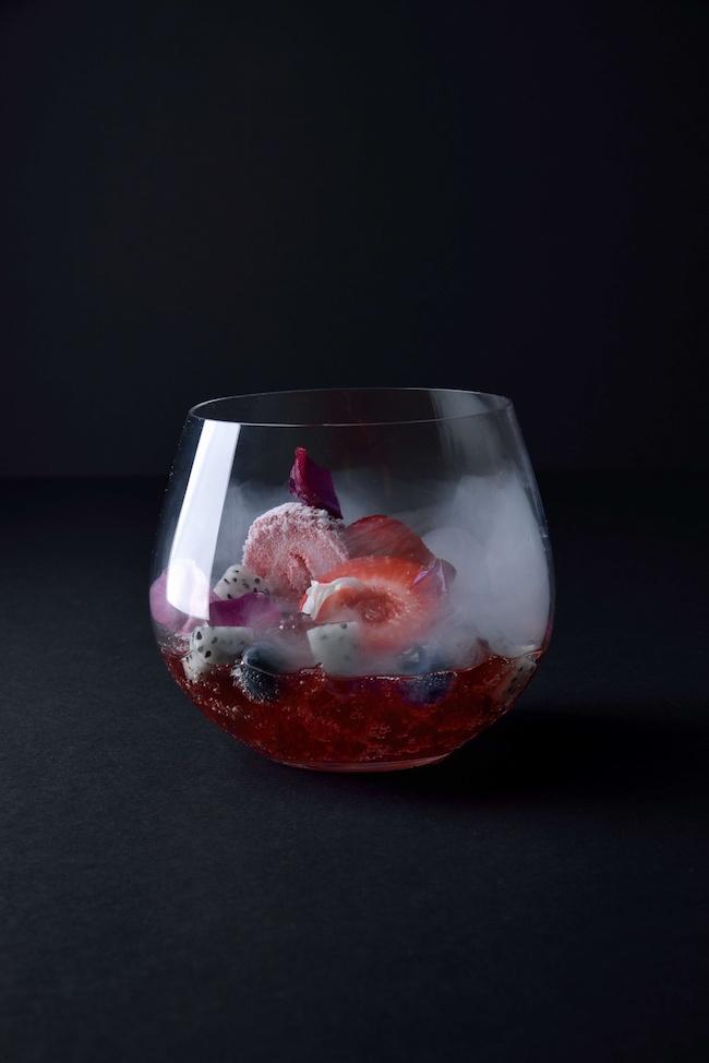 「季節のフルーツ&シャンパーニュゼリー」