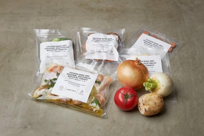 鶏手羽元と季節野菜のトマト煮のミールキット 2名用¥3,500 4名用¥6,600