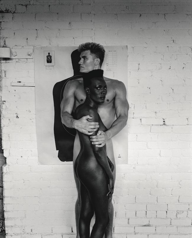 Grace Jones and Dolph Lundgren, Los Angeles 1985 © Foto Helmut Newton, Helmut Newton Estate Courtesy Helmut Newton Foundation